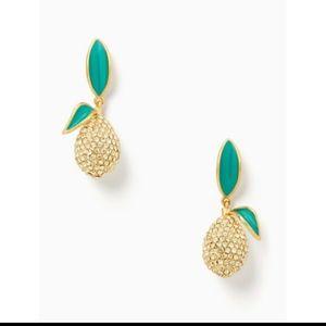 New Kate Spade Picnic Perfect Lemon Earrings